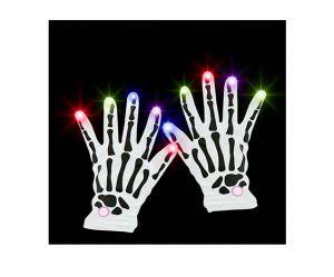 Перчатки скелета (с огоньками)