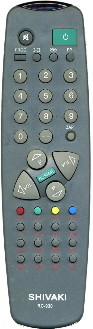 Пульт для Vestel/Shivaki/Rubin RC-930 (TV) (CTV-8136, SEG1900, TV-5554, TV-5596, 51ТЦ418И, 55S05T, 63S05T, 3745)