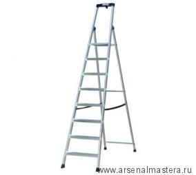 Односторонняя алюминиевая лестница - стремянка Krause SOLIDO, развальцованные 8 ступеней