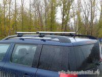 Багажник на крышу Skoda Yeti, Атлант, аэродинамические дуги на рейлинги