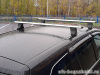 Багажник на крышу Opel Zafira, Атлант, аэродинамические дуги