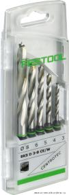 Кассета со спиральными свёрлами по дереву Festool BKS D 3-8 CE/W, в комплекте 5 шт.