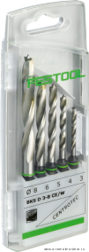 Кассета со спиральными свёрлами по дереву Festool BKS D 3-8 CE/W в комплекте 5 шт 493648