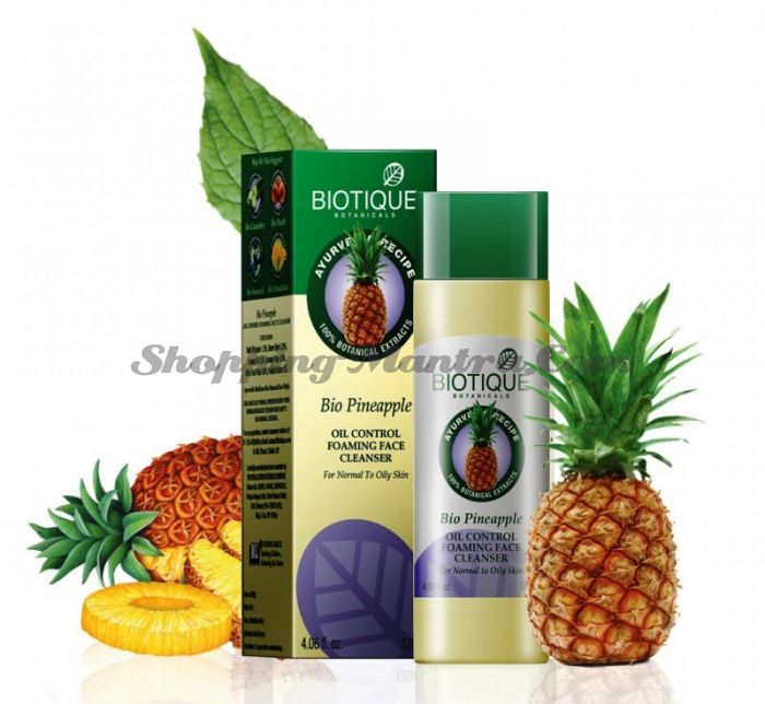 Гель для умывания для жирной кожи Ананас Биотик (Biotique Bio Pineapple Face Cleanser)