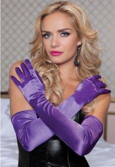 Длиные атласные перчатки