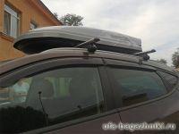 Багажник на крышу Hyundai ix35 с интегрированными рейлингами, Атлант, аэродинамические дуги