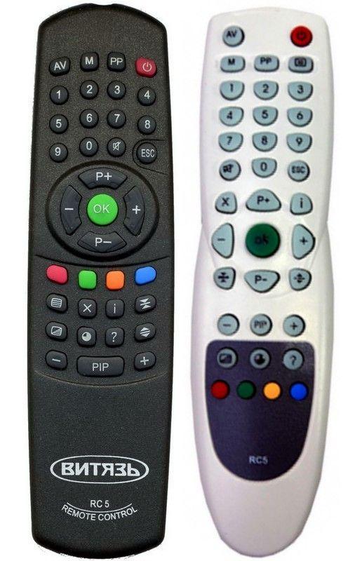 Пульт для Vityaz/Витязь RC-5, RC-7 (TV) (37ТЦ6024-1, 51ТЦ-5109Д, 51ТЦ-6024-1, 51ТЦ-6641, 51ТЦ-6721, 54CEM-6261-3 PLANIT, 54ТЦ-6424)