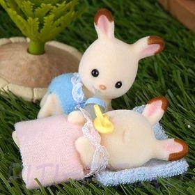 """Sylvanian Families. Набор """"Двойняшки шоколадные кролики"""""""