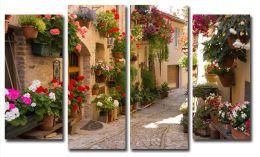 Улица в цветах