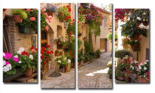 Улица в цветах (размер М)