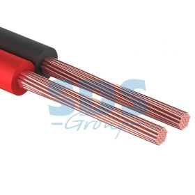 Кабель акустический, ШВПМ 2х0.25 мм², красно-черный, 100 м. PROCONNECT
