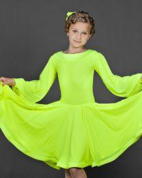 Платье для танцев, лимонное