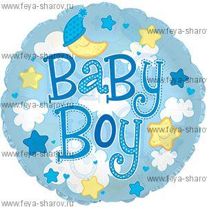 Шар baby boy 61 см