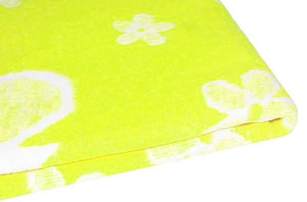 Байковое одеяло для девочки, цвет салатовый