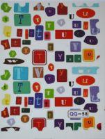 """Водная наклейка """"Марка"""" QQ -58 для дизайна ногтей"""