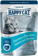 Happy Cat Лосось и креветки в желе