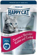 Happy Cat Кролик и индейка в соусе