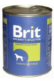 Brit консервы для собак Говядина и сердце