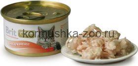Brit консервы для кошек куриная грудка