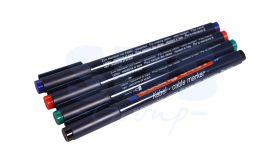 Набор маркеров E-8407#4S 0.3мм (для маркировки кабелей) набор:черный,красный,зеленый,синий