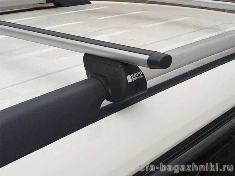 Багажник на крышу - аэродинамические дуги на рейлинги Kia Soul, Евродеталь