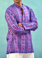 Мужские индийские рубашки, хлопок, интернет-магазин (СПб) фиолетовая, ом