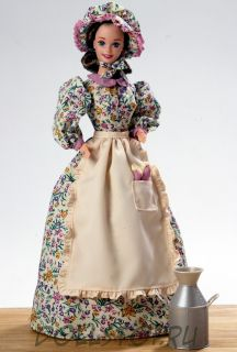 Коллекционная кукла Барби Лавочница Пионеры - Pioneer Shopkeeper Barbie Doll