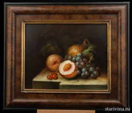 Натюрморт с фруктами, масло, Зап. Европа, нач. 20 в., артикул 01025