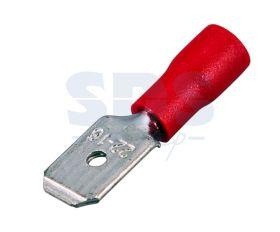КЛЕММА ПЛОСКАЯ изолированная (КПИ штекер - 6.3мм) 0.5-1.5мм² (VM1.25-250) REXANT