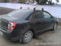Багажник на крышу Chevrolet Cobalt, Атлант, прямоугольные дуги