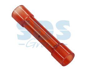 СОЕДИНИТЕЛЬНЫЕ ГИЛЬЗЫ изолированные (СГИ L-27.3мм) нейлоновые 0.5-1.5мм² (BNY-1.25) красный REXANT