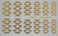 """Наклейки для ногтей """"Золото"""" NFM 008"""