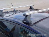 Багажник на крышу Lada Kalina sedan / hatchback, Атлант, прямоугольные дуги, опора Е