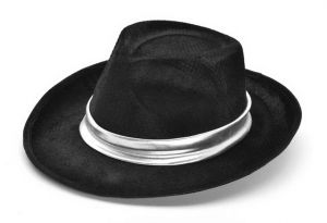 Шляпа Гангстера с серебряной лентой