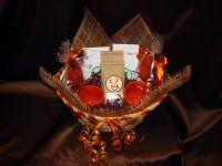 Корзина большая с 2-я чайными парами - подарочный набор.