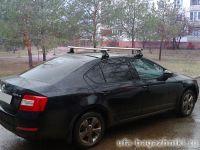 Багажник на крышу Skoda Octavia (A5, A7), Атлант, аэродинамические дуги, опора Е