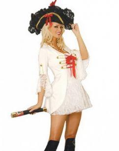 Костюм пиратки с белым пиджаком