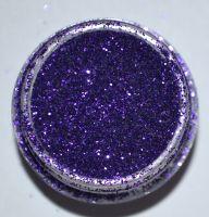 Блёстки (глиттер) фиолетовые в маленькой банке, 2,5 гр