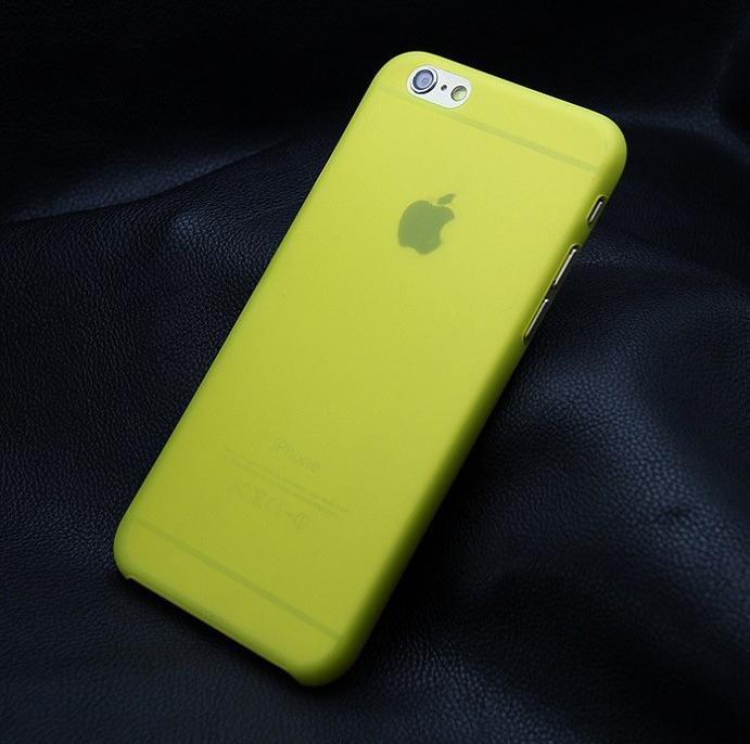 Ультратонкий чехол для iphone 6 (5.5) желтый