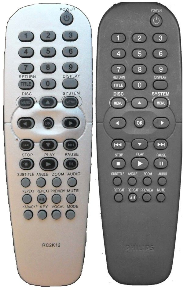 Пульт для PHILIPS RC2K12 , RC2K16, RC-19137005/01P (DVD-728, DVP3010, DVP5101K/51, DVP5102KX, DVP520, DVP630, DVP632)