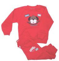 детский модный красный костюм