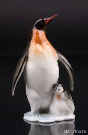 Пингвин с пингвиненком, Hutschenreuther, Германия, 1960 гг., артикул 01280