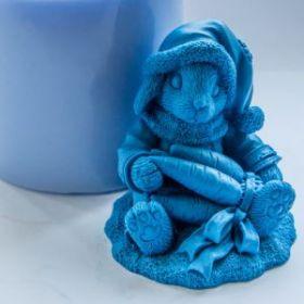 Форма для мыла Кролик с морковкой 3D (силикон)