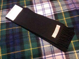 шарф шотландский ,100% шерсть ягнёнка , классический черный цвет