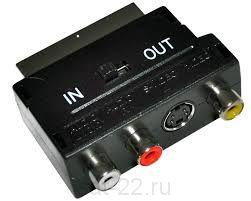 Переходник Скарт- 3Т IN-OUT