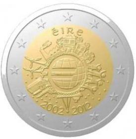 10 лет евро  Ирландия 2 евро 2012