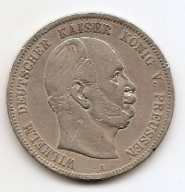 5 марок Пруссия 1874