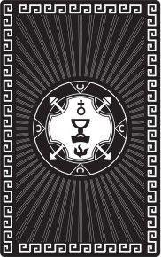 """Магическая карта """"Пентакль королевы высшей судьбы"""", 90х57 мм, сталь с покрытием"""
