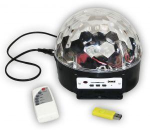 Диско-шар цветомузыкальный со встроенным MP3-плеером