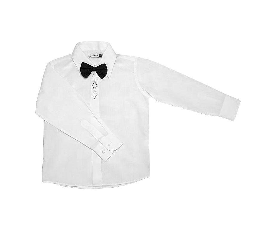 Праздничная белая рубашка для мальчика